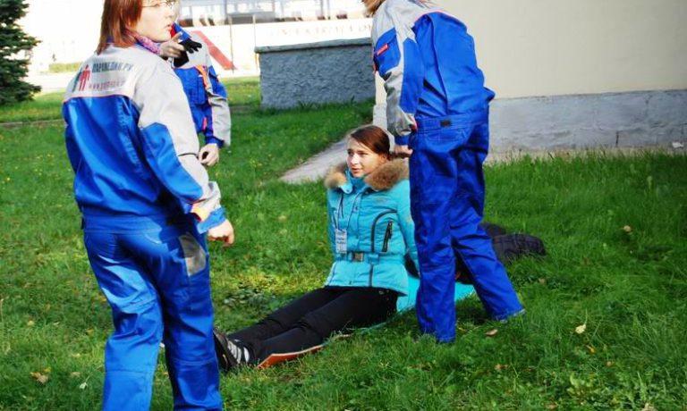 Соревнования по первой помощи в Карелии (2008) — этап Пожар
