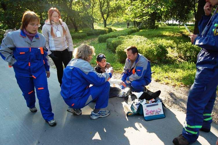 Соревнования по первой помощи в Карелии (2008) - этап Пожар