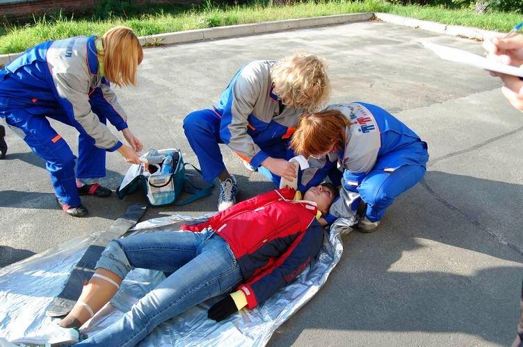 Соревнования по первой помощи в Карелии (2008) - этап Падение со столба