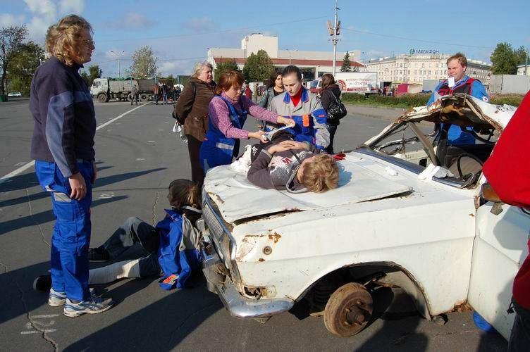 Соревнования по первой помощи в Карелии (2008) - этап Дтп
