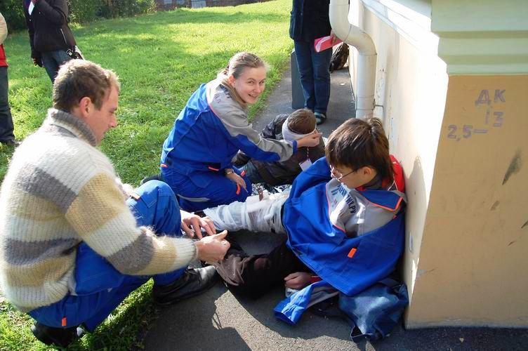 Соревнования по первой помощи в Карелии (2008) - этап Драка