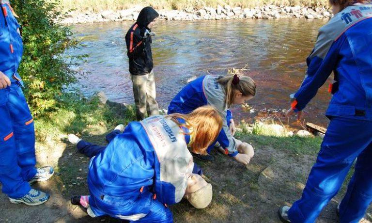 Соревнования по первой помощи в Карелии (2008) — этап Утопленник