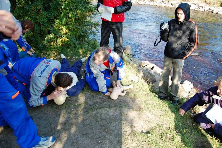 Соревнования по первой помощи в Карелии (2008) - этап Утопленник