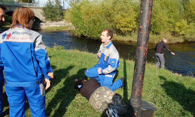 Соревнования по первой помощи в Карелии (2008) — этап Удар током