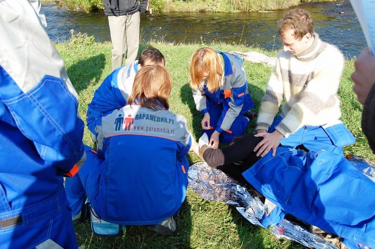 Соревнования по первой помощи в Карелии (2008) - этап Удар током