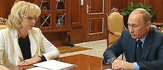 Владимир Путин спросил Татьяну Голикову о донорстве