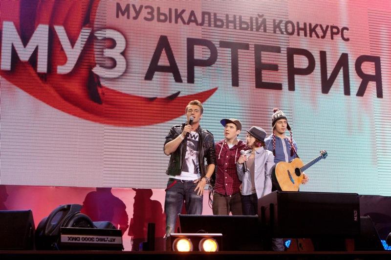 Выступление Алексея Воробьева и группы SUNдали на финальном концерте конкурса МУЗАРТЕРИЯ